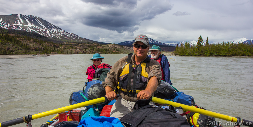 Bruce Keller at the oars on the Alsek River in the Yukon, Canada