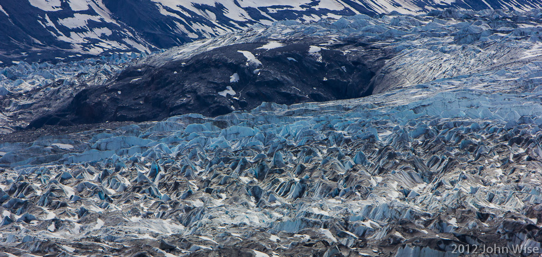 """Closeup"" of the Lowell Glacier in the Yukon, Canada"