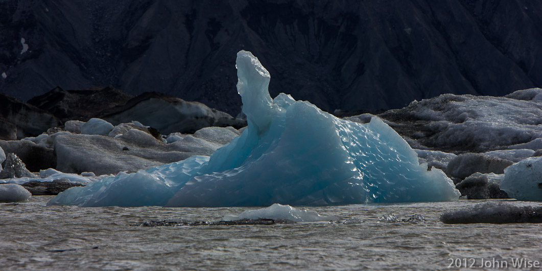 An iceberg in Lowell Lake - Kluane National Park Yukon, Canada