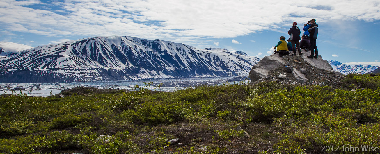 First look at Lowell Glacier on the Alsek River in the Yukon, Canada