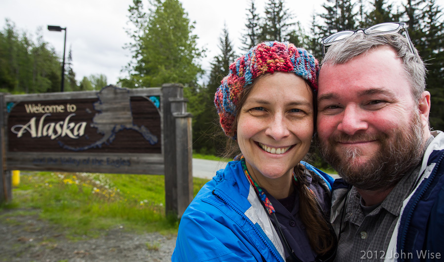 John and Caroline Wise on the Alaska / Canadian border