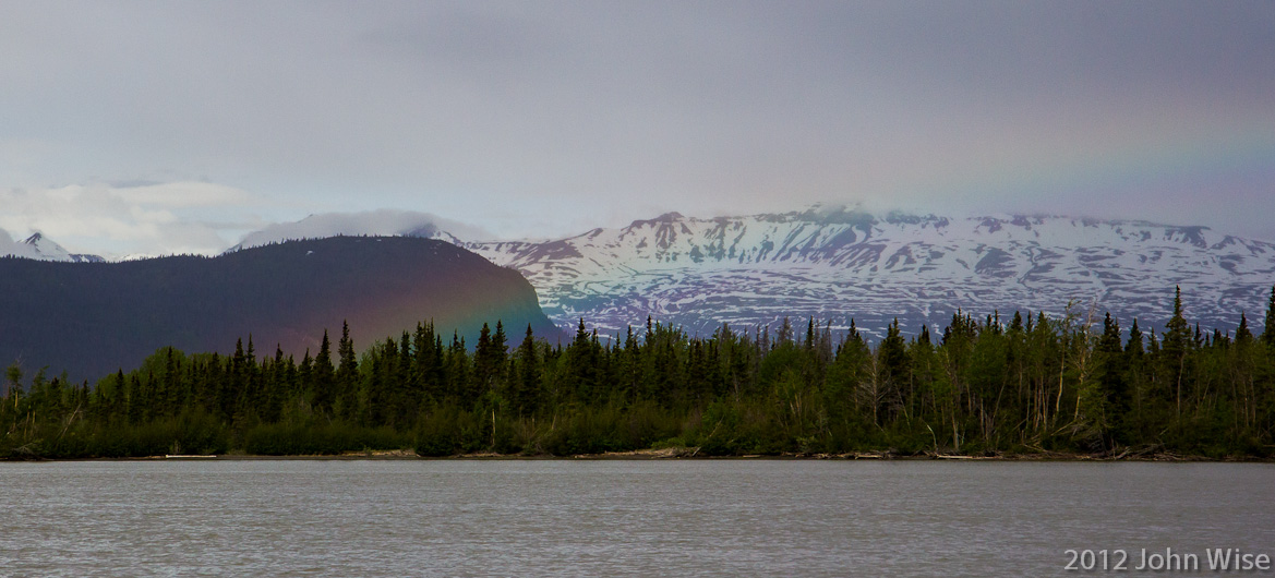Another rainbow on the Alsek River in Yukon, Canada
