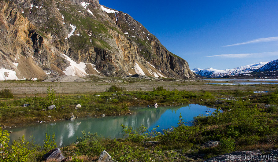 Halfway between Goatherd Mountain and Lowell Lake in Kluane National Park Yukon, Canada