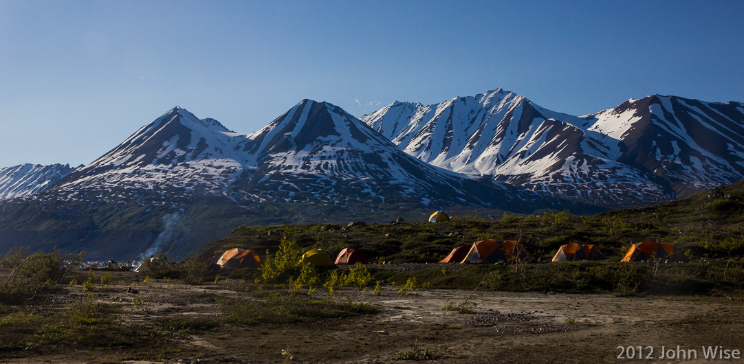 Our camp on Lowell Lake in Kluane National Park Yukon, Canada
